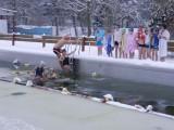Eisbaden im Schwimmbad 2013